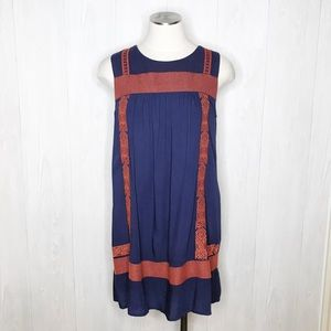 THML | Cross Stitch Embroidered Shift Dress Sz. S